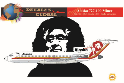 1/144 Scale Decal Alaska 727-100 Miner