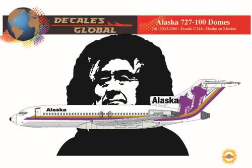 1/144 Scale Decal Alaska 727-100 Domes
