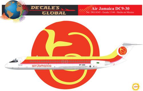 1/144 Scale Decal Air Jamaica DC9-30