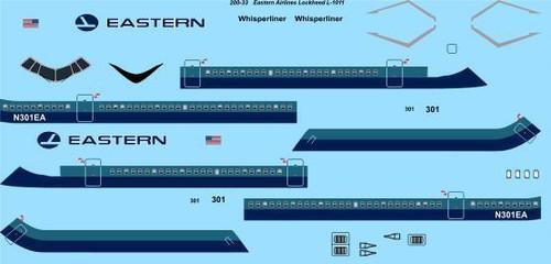 1/200 Scale Decal Eastern Lockheed L-1011 TriStar