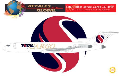 1/144 Scale Decal Total Linhas Aereas Cargo 727-200F