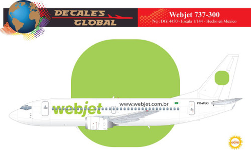 1/144 Scale Decal WebJet 737-300