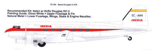 1/72 Scale Decal Iberia Douglas DC-3