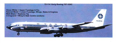 1/72 Scale Decal Varig Boeing 707-320C