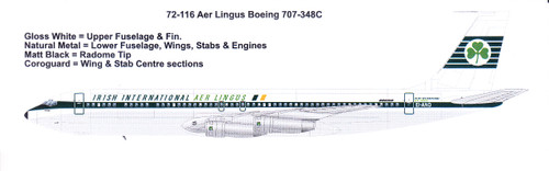 1/72 Scale Decal Aer Lingus Boeing 707-320C