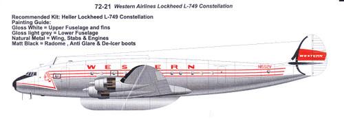 1/72 Scale Decal Western Lockheed L-749 Constellation