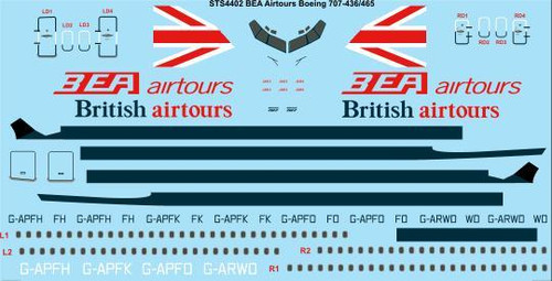 1/144 Scale Decal BEA Airtours/British Airtours Boeing 707-436