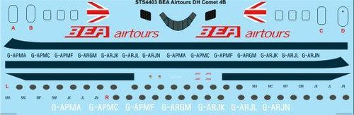 1/144 Scale Decal BEA Airtours DH Comet 4B