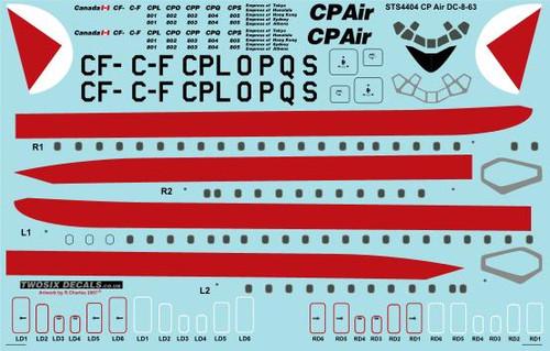 1/144 Scale Decal CP Air Douglas DC-8-63