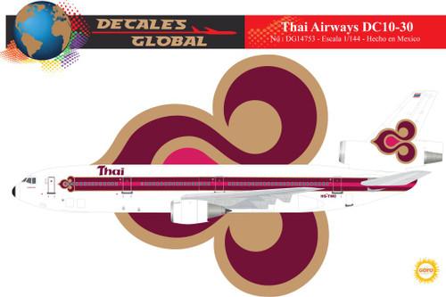 1/144 Scale Decal Thai Airways DC10-30