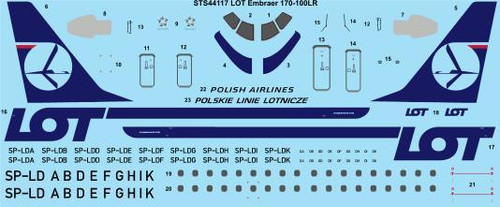 1/144 Scale Decal LOT Embraer 170-100LR