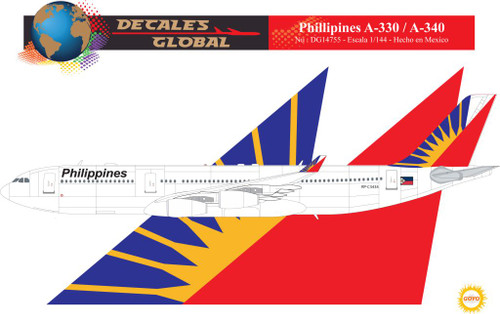 1/144 Scale Decal Philippines A-340