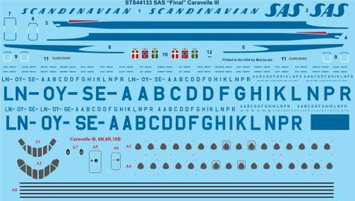 """1/144 Scale Decal SAS """"Late"""" Caravelle III"""