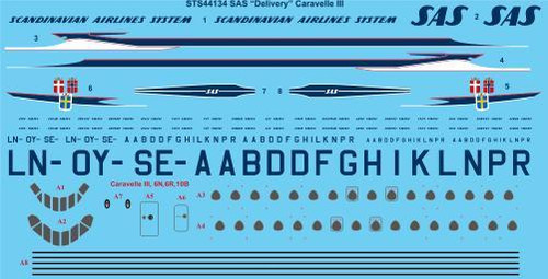 """1/144 Scale Decal SAS """"Delivery"""" Caravelle III"""