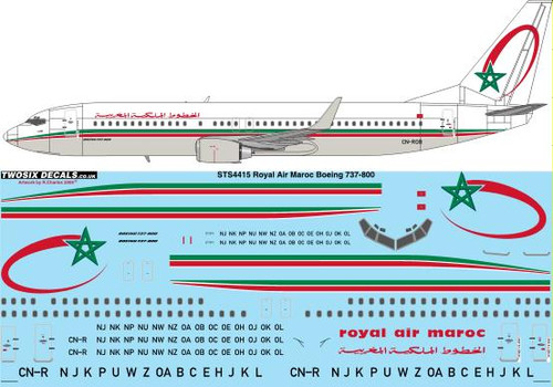 1/144 Scale Decal Royal Air Maroc Boeing 737-800