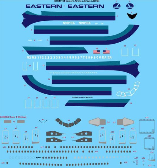 1/144 Scale Decal  Eastern Air Lines Airbus A300B4