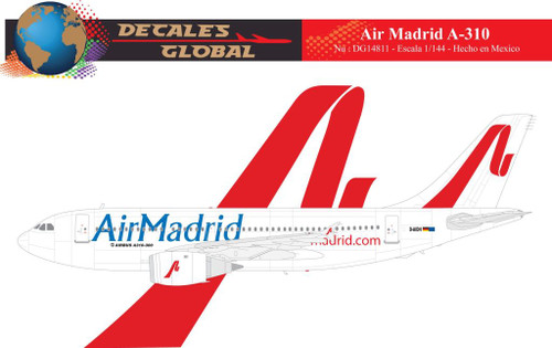 1/144 Scale Decal Air Madrid A-310