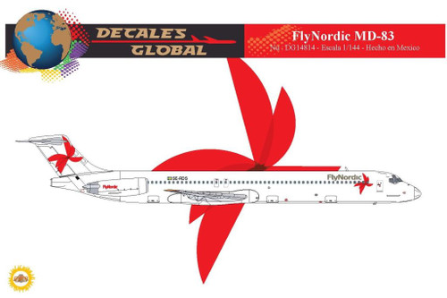 1/144 Scale Decal FlyNordic MD-83