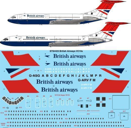 1/144 Scale Decal British Airways VC10 & Super VC10