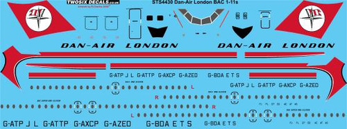 1/144 Scale Decal Dan-Air London BAC 1-11