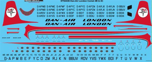 1/144 Scale Decal Dan-Air London DH Comet 4B & 4C