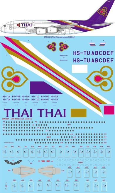 1/144 Scale Decal Thai Airways Airbus A380-841