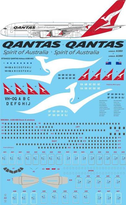 1/144 Scale Decal QANTAS Airbus A380-842