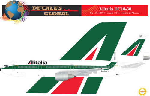 1/144 Scale Decal Alitalia DC10-30