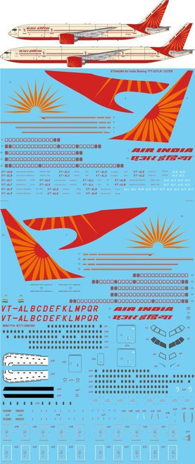 1/144 Scale Decal Air India Boeing 777-237LR / 337ER