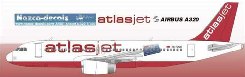 Atlasjet A-320 with creditcard and turkish stencils -without windows