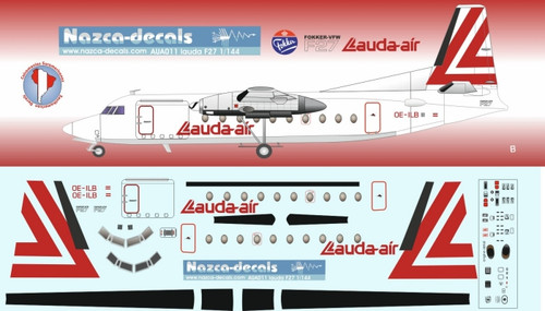 1/144 Scale Decal Lauda F-27