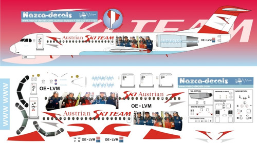 1/144 Scale Decal Austrian F-100 with Skyteam special titles