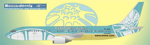 1/144 Scale Decal BWIA 737-800 steel pan scheme
