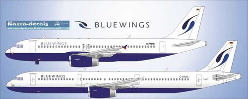 1/144 Scale Decal BlueWings small Airbuses A320/321