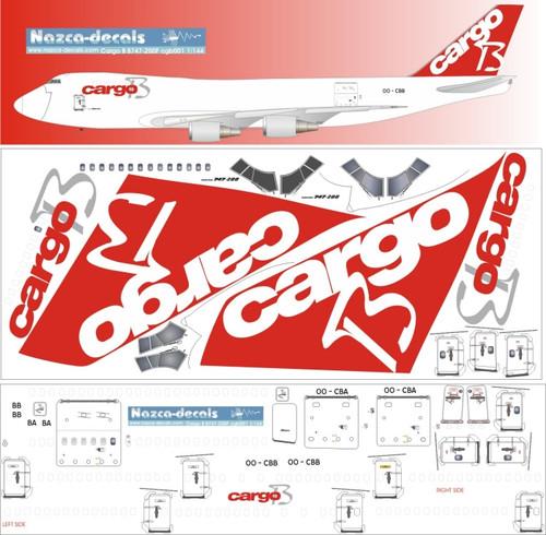 1/144 Scale Decal Cargo B B747-200F