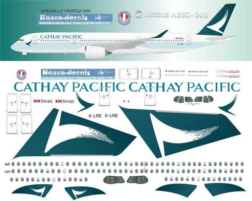 1/144 Scale Decal Cathay Pacific A350-9