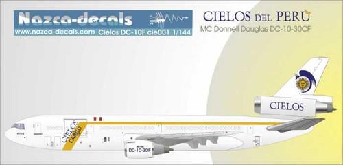 1/144 Scale Decal Cielos del Peru DC10-30F