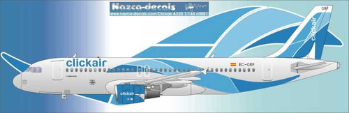1/144 Scale Decal Click Air A-320