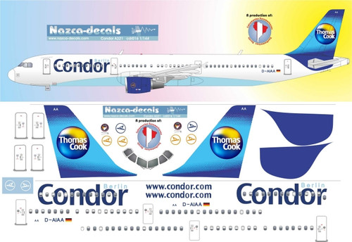 1/144 Scale Decal Condor A-321 with shadowed windows