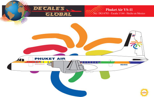 1/144 Scale Decal Phuket Air YS-11