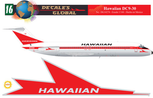 1/144 Scale Decal Hawaiian DC9-30