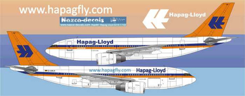 1/144 Scale Decal Hapag Lloyd A310
