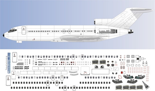 1/144 Scale Decal Detail Sheet 727-100