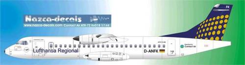 1/144 Scale Decal  Lufthansa Regional / Contact Air ATR-72
