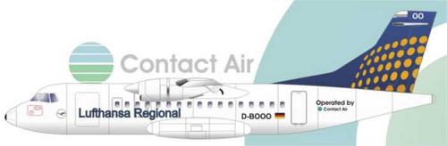 1/144 Scale Decal Lufthansa Regional / Contact Air ATR-42