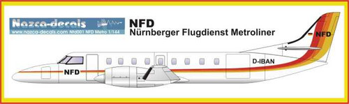 1/144 Scale Decal NFD Metro III