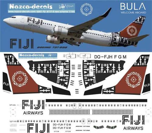 1/144 Scale Decal Fiji Airways 737-700/800