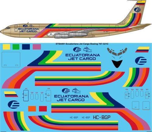 1/144 Scale Decal Ecuatoriana Jet Cargo Boeing 707-321C