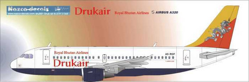1/144 Scale Decal Drukair A-319