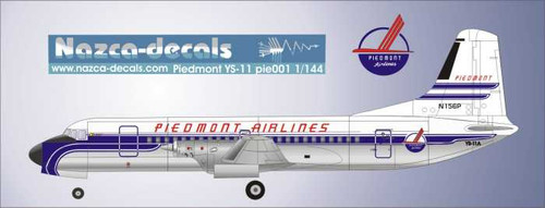 1/72 Scale Decal Piedmont YS-11